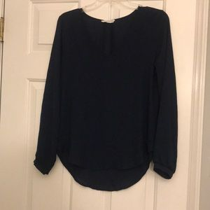 Navy Blue LUSH blouse size Small NWOT